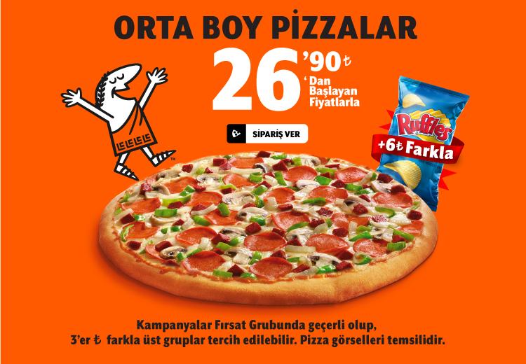 Tek Pizzalar (Orta)