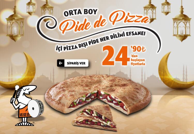 Pide de Pizza 'Peynirli' (Orta) Fırsatı
