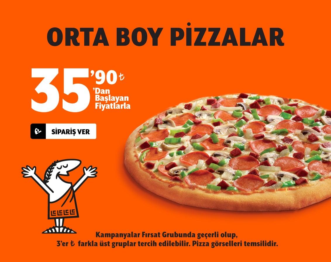Orta Boy Pizza 31.90