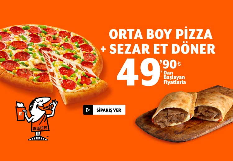 Sezar Et Döner + Pizza (Orta)